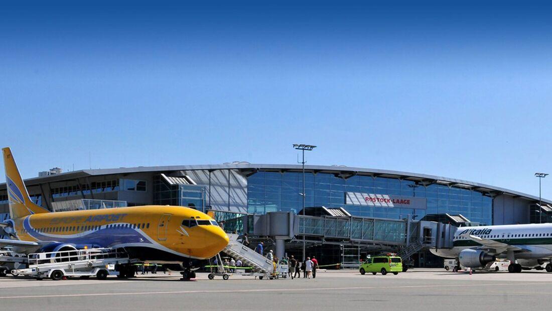Der Flughafen Rostock-Laage soll privatisiert werden.