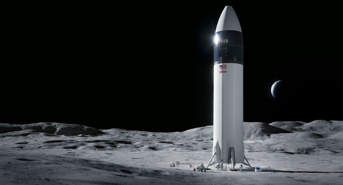 Der Mondlander von SpaceX wurde von der NASA für das Artemis-Programm ausgewählt.