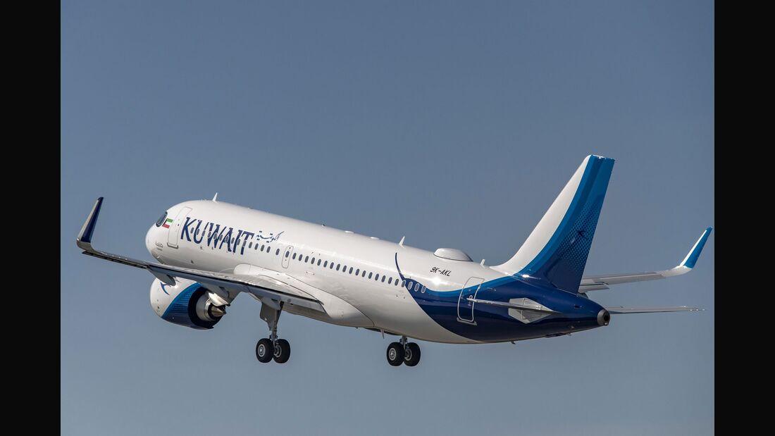 Der erste Airbus A320neo für Kuwait Airways wurde im September 2019 ausgeliefert.