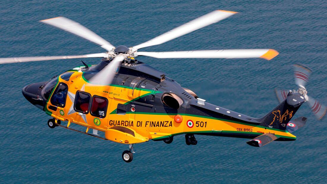 Der erste Leonardo AW169M-Hubschrauber für die Guardia di Finanza.