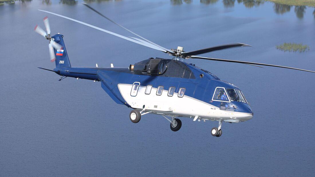 Der erste Mi-38-Serienhubschrauber wurde im Februar an die Gasprombank Leasinggesellschaft übergeben.