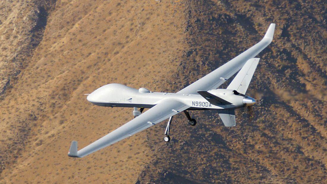 Der erste Protector für die Royal Air Force flog am 25. September bei General Atomics in Kalifornien zum ersten Mal.