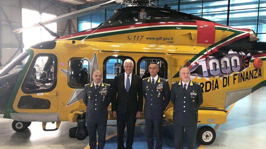 Die 1000. Leonardo AW139 wurde am 20. September 2019 ausgeliefert.