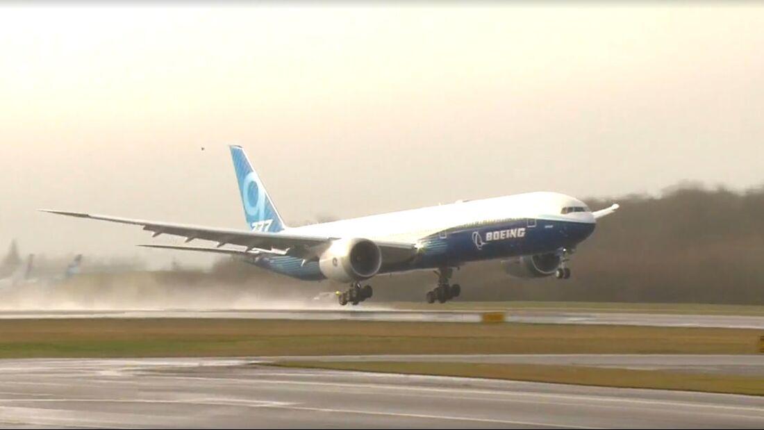 Die 777-9 startet in Everett zum Erstflug
