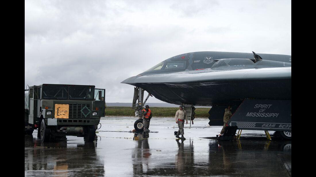 Die B-2A Spirit landete am 28. August 2019 erstmals in Island.