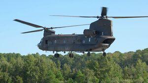 Die Boeing CH-47 Chinook wird bei der US Army mit dem T408-Triebwerk von GE Aviation getestet, das für die CH-53K entwickelt wurde.