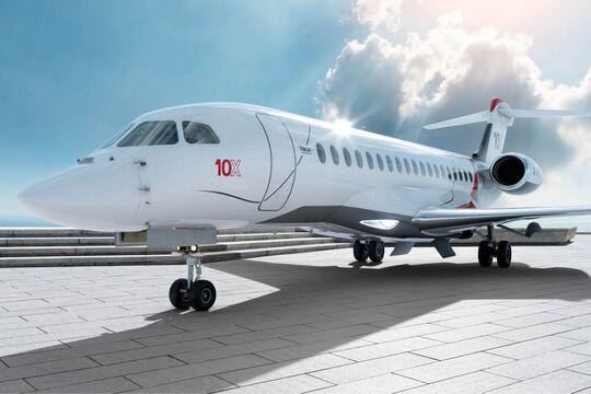 Die Dassault Falcon 10X wurde am 6. Mai 2021 offiziell vorgestellt.