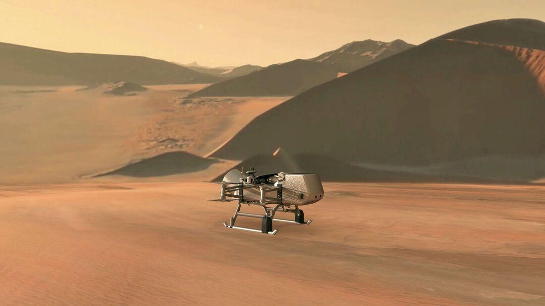 Die Dragonfly-Mission soll den Saturnmomd Titan fliegend erkunden.