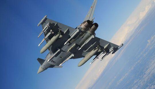 Die Eurofighter der Luftwaffe werden mit der Meteor-Luft-Luft-Lenkwaffe ausgerüstet.