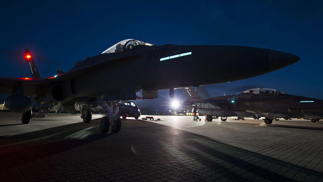 Die F/A-18 Hornet der Schweizer Luftwaffe stehen nun ständig für QRA-Starts bereit.
