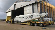Die Junkers Ju 52 der Lufthansa kommt im September 2019 zerlegt nach Bremen