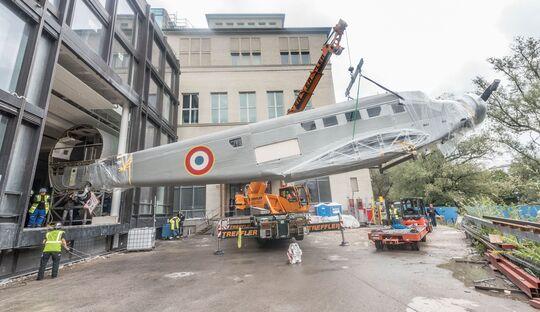 Die Junkers Ju 52 des Deutschen Museums ist nach fünf Jahren zurück auf der Museumsinsel.