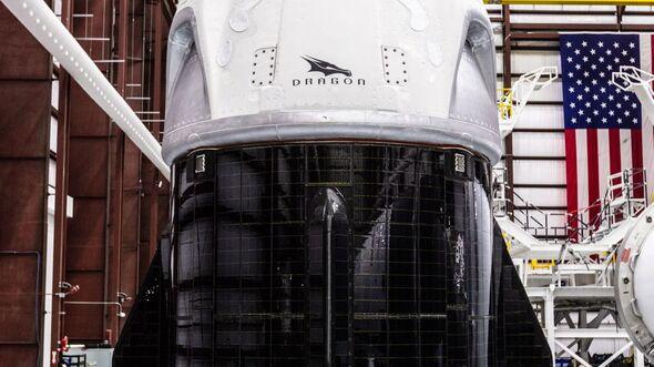 Die Kapsel Crew Dragon von SpaceX