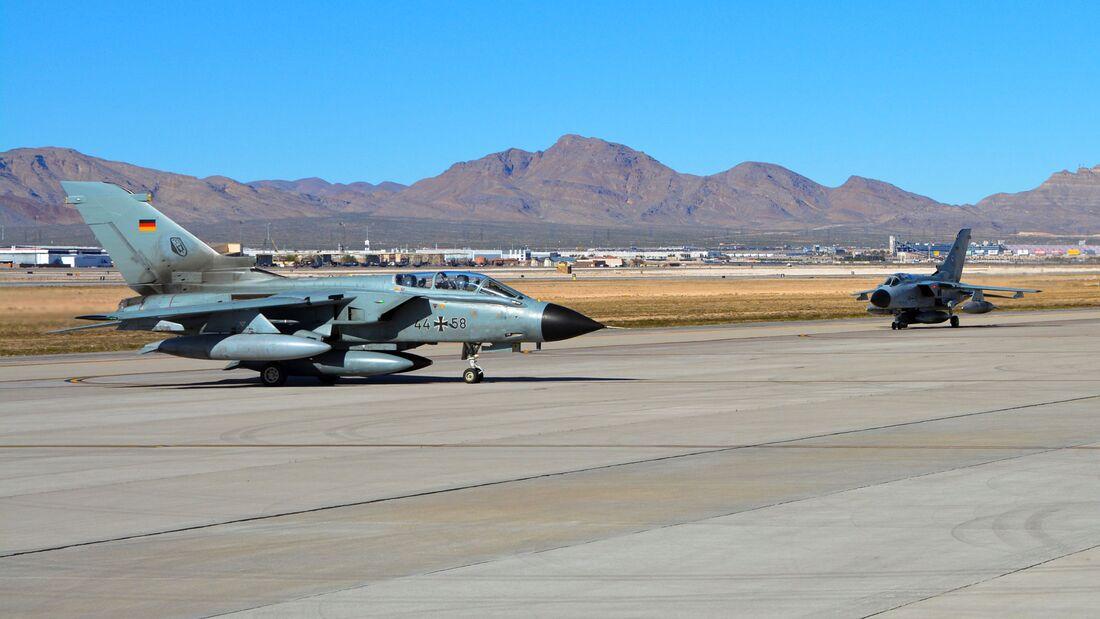 Die Luftwaffe beteiligt sich mit acht Tornados und acht Eurofightern an Red Flag 20-2 auf der Nellis AFB.
