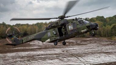 Die NH90 des Heeres erhalten neue Systeme.