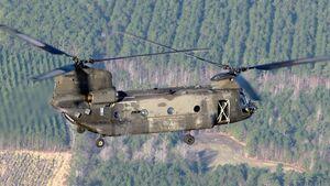 Die US Army und Boeing testeten eine CH-47 mit dem T408-Triebwerk von GE Aviation, das die CH-53K antreibt.