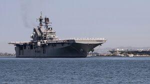 """Die USS """"Tripoli"""" (LHA 7) traf am 18. September 2020 in ihrem Heimathafen San Diego ein."""