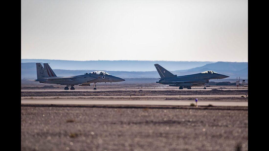 Die Übung Blue Flag im November 2019 findet mit Eurofightern der Luftwaffe statt.