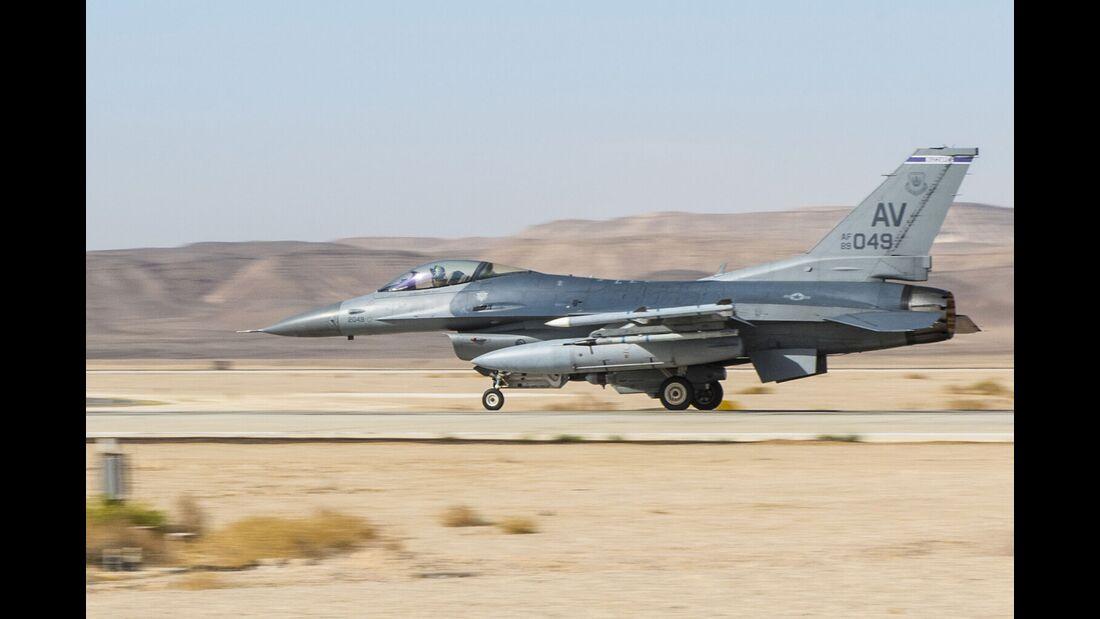 Die Übung Blue Flag im November 2019 findet mit F-16 der US Air Force statt.