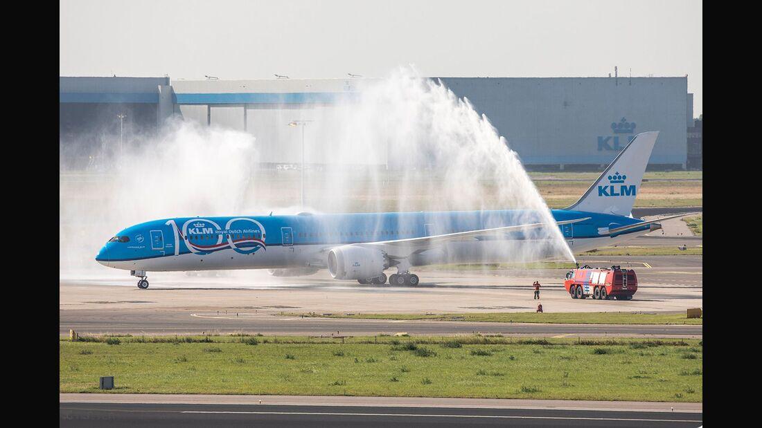 Die erste Boeing 787-10 für KLM trifft am 30. Juni 2019 in Schiphol ein