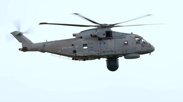 """Die erste """"Crowsnest""""-Version des Merlin-Hubschraubers wurde im März 2021 an die Royal Navy in Culdrose in übergeben."""