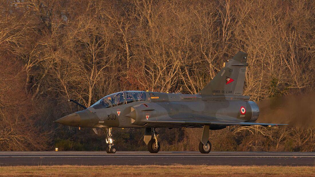 Die erste modernisierte Mirage 2000D ist am 7. Janaur 2021 in Mont-de-Marsan eingetroffen.