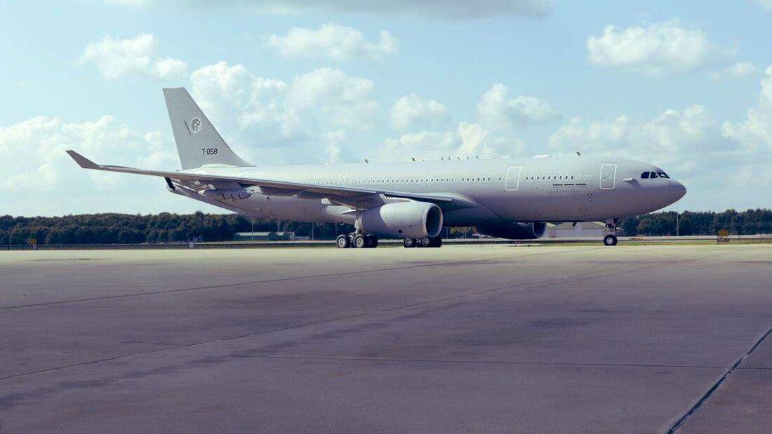 Die fünfte A330 MRTT ist in Eindhoven eingetroffen.