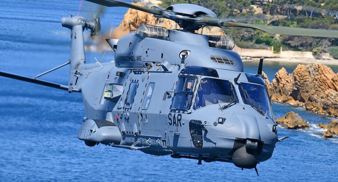 Die spanischen Luftstreitkräfte nutzen ihre NH90 für den SAR-Dienst und CSAR-Einsätze.