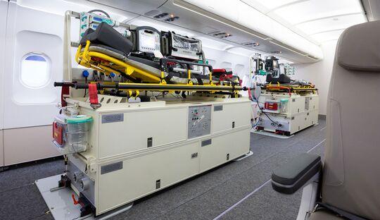 Die umfangreiche Erfahrung der Bundeswehr mit der PTE erster Generation, hier in einem Airbus A319, fließt direkt in die Entwicklung der PTE NG ein.