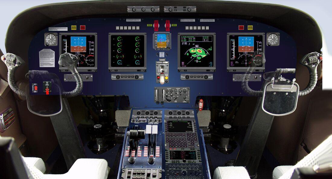 Dornier Do 228NG Cockpit.