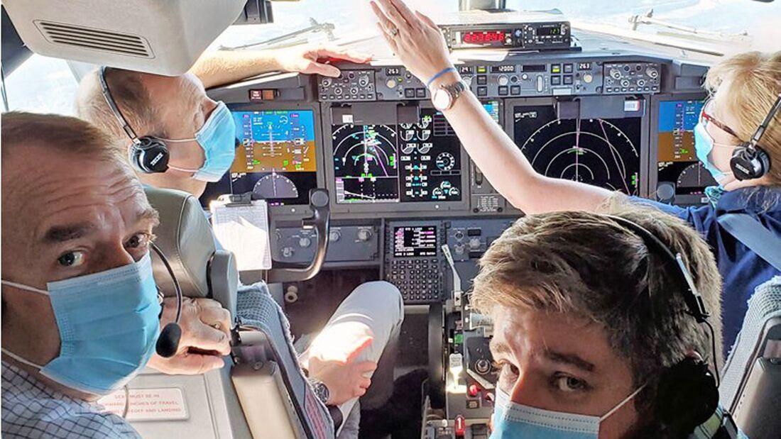 EASA-Spezialisten sind die Boeing 737 MAX in Vancouver geflogen.