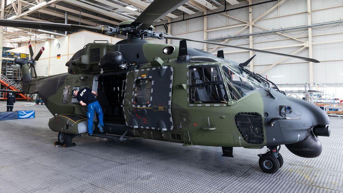 EFW in Dresden führt Instandsetzungen von NH90 der Bundeswehr durch.