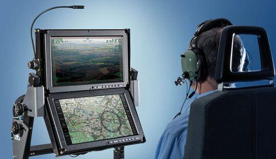 ESG-Missionskonsole für Polizeihubschrauber.