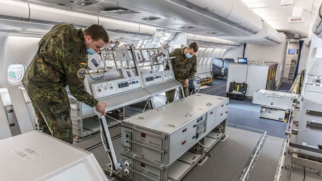 Eine A330 MRTT des NATO-Verbands in Eindhoven wurde im Februar 2021 in Köln-Wahn für MedEvac-Einsätze umgerüstet.