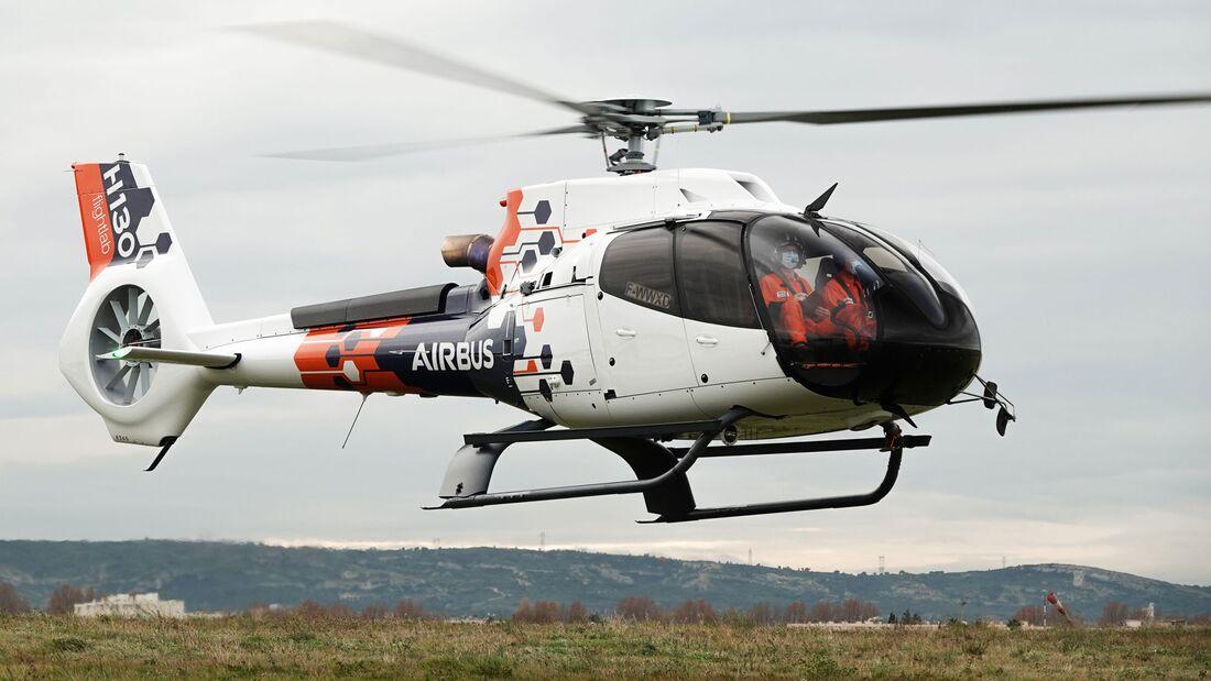 Eine H130 dient Airbus Helicopters als Flightlab für die Erprobung neuer Technologien.