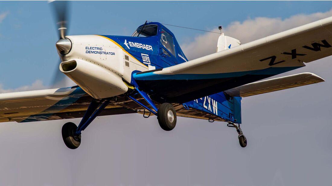 Embraer testet eine Ipanema mit Elektroantrieb.
