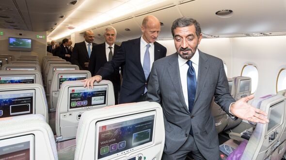 Emirates-Chairman Al Maktoum in einer A380