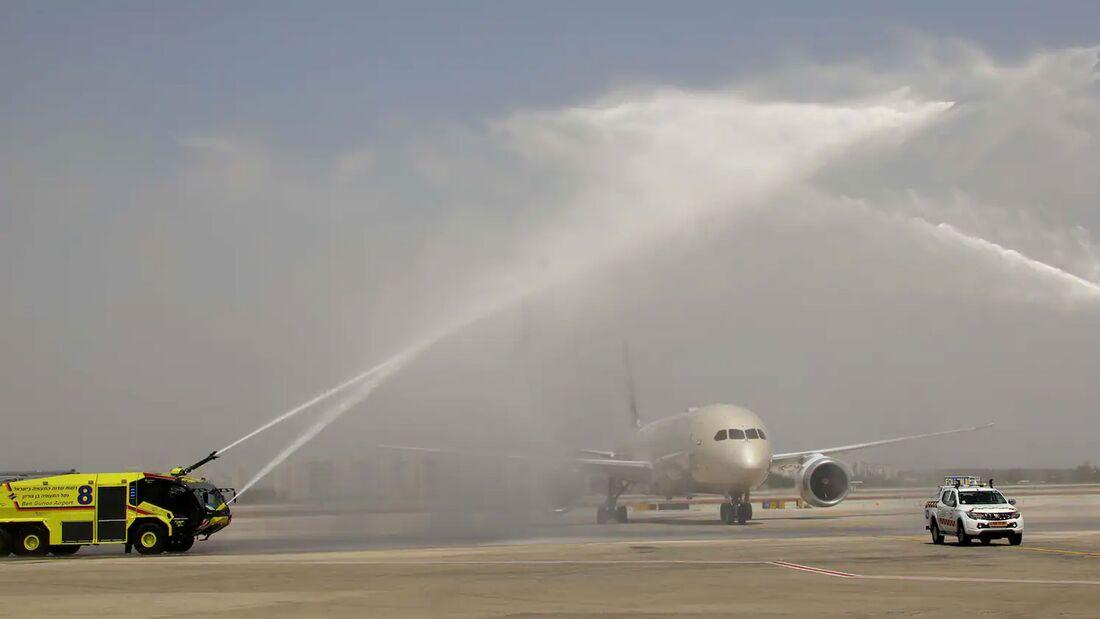 Etihad nahm am 6. April 2021 den regulären Liniendienst nach Tel Aviv auf.