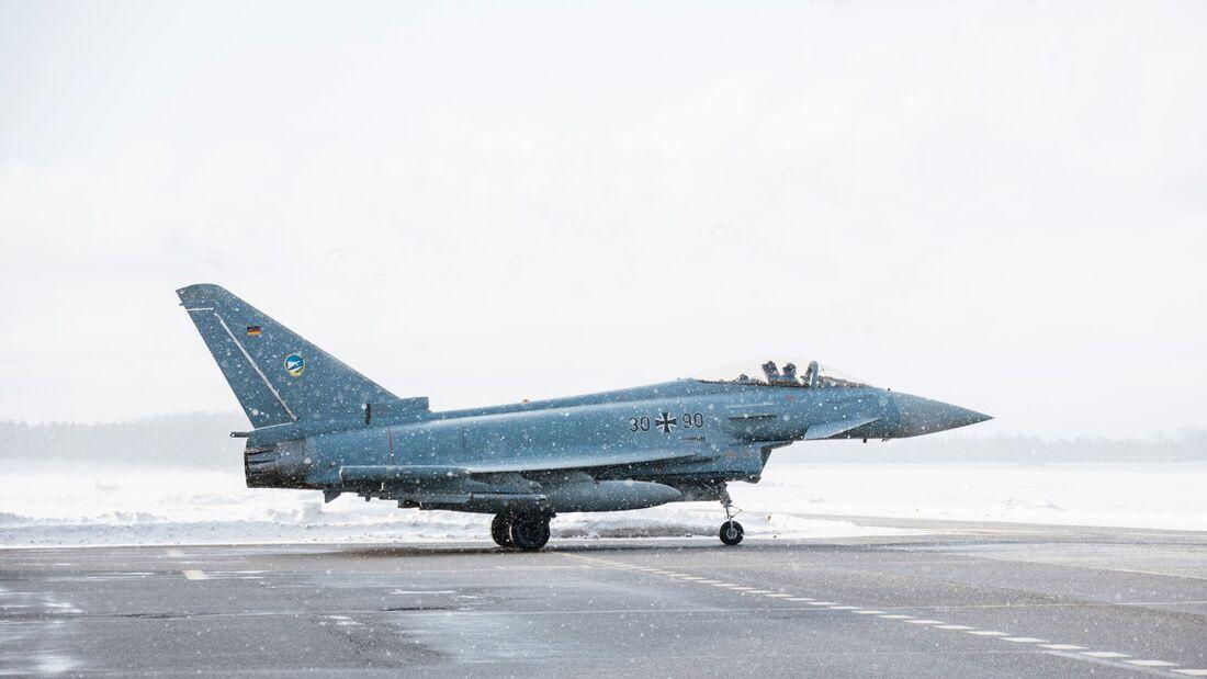 Eurofighter des Taktischen Luftwaffengeschwaders 74 in Ämari.