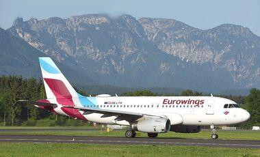 Eurowings A320 in Österreich.