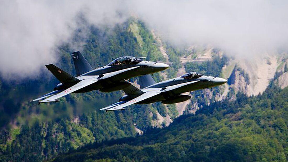 F/A-18 Hornet der Schweizer Luftwaffe.