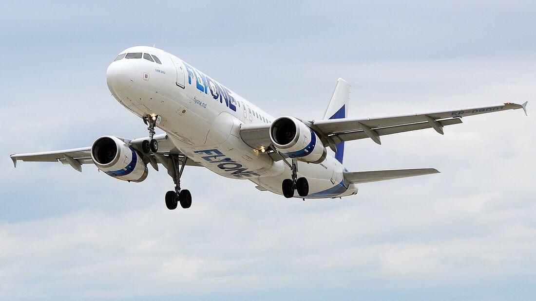 FLYONE fliegt mit A320 von Frankfurt-Hahn nach Kischinau.
