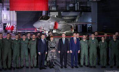 Feier zur Vertragsunterzeichnung des F-35 Kaufs durch Polen in Deblin am 31.Janaur 2020.