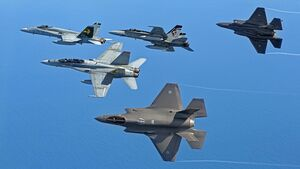 First Aircraft Arrival off the F-35A Joint Strike Fighter
