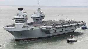 "Flugzeugträger HMS ""Prince of Wales"" im November 2019."