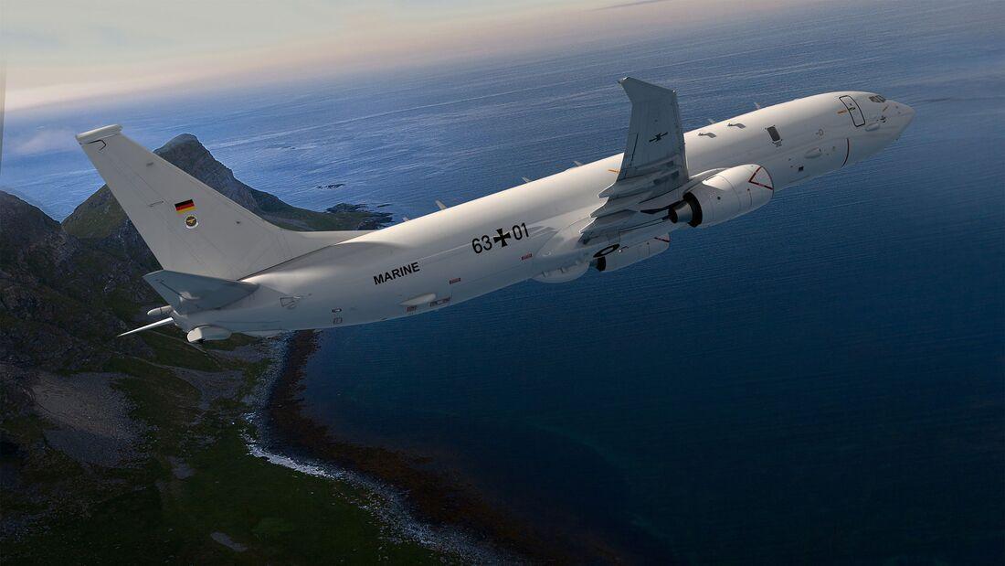 Fünf Boeing P-8A  Poseidon werden für die Deutsche Marine beschafft.