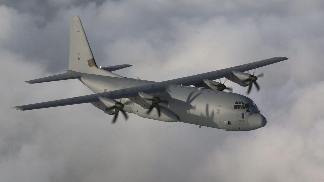 Hercules C130J of 24 Sqn