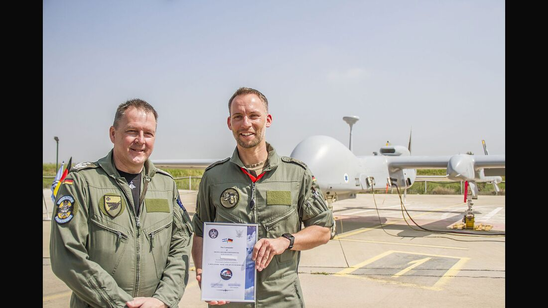 Heron TP in Tel Nov - Ausbildung von Lutwaffe Piloten und Bedienern