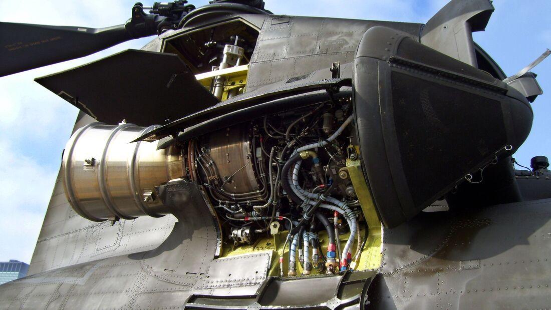 Honeywell T55-Triebwerk des Boeing CH-47 Chinook.