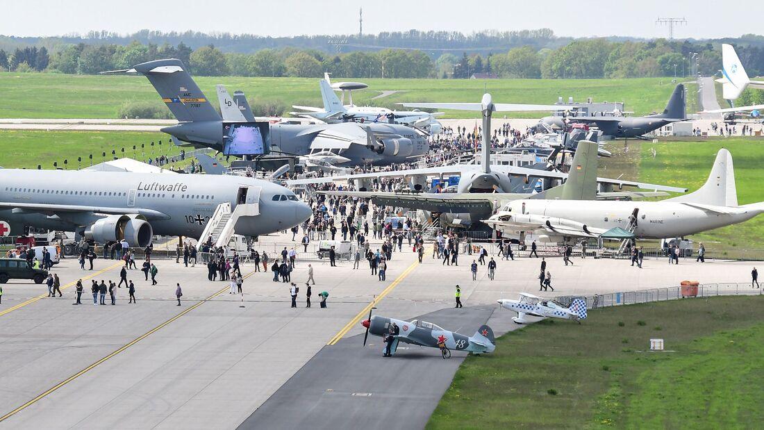 ILA 2018: Ausstellungsbereich der Bundeswehr.
